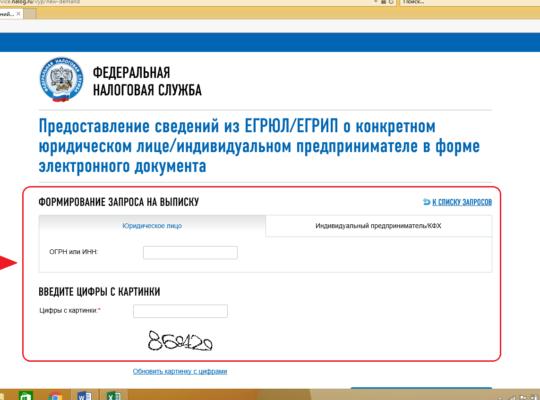 Выписка из ЕГРЮЛ бесплатно из налоговой электронная выписка